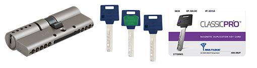 Циліндр MUL-T-LOCK® ClassicPro та ключі