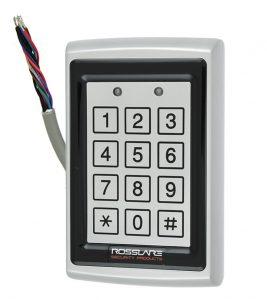Електронний контролер ROSSLARE AC-Q44 автономний антивандальний зовнішній код+карта EM-MARINE_125Khz з п'єзо кнопками
