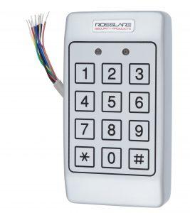 Електронний контролер ROSSLARE AC-T43 автономний антивандальний зовнішній код з п'єзо кнопками