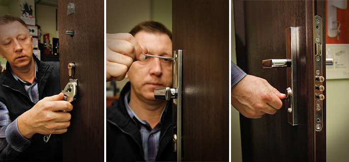 Как заменить личинку замка в металлической двери