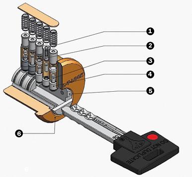 Двосторонній ключ MUL-T-LOCK Classic (мальтлок класік) з інтерактивним елементом